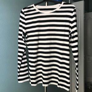 Merona ultimate supreme super soft striped tee L